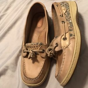Sequence cheetah print sperry boat shoes